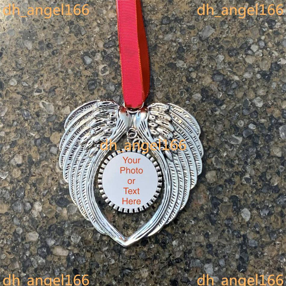 sublimation blanks christmas ornament decorations angel wings shape blank Add your own image and background yjl44