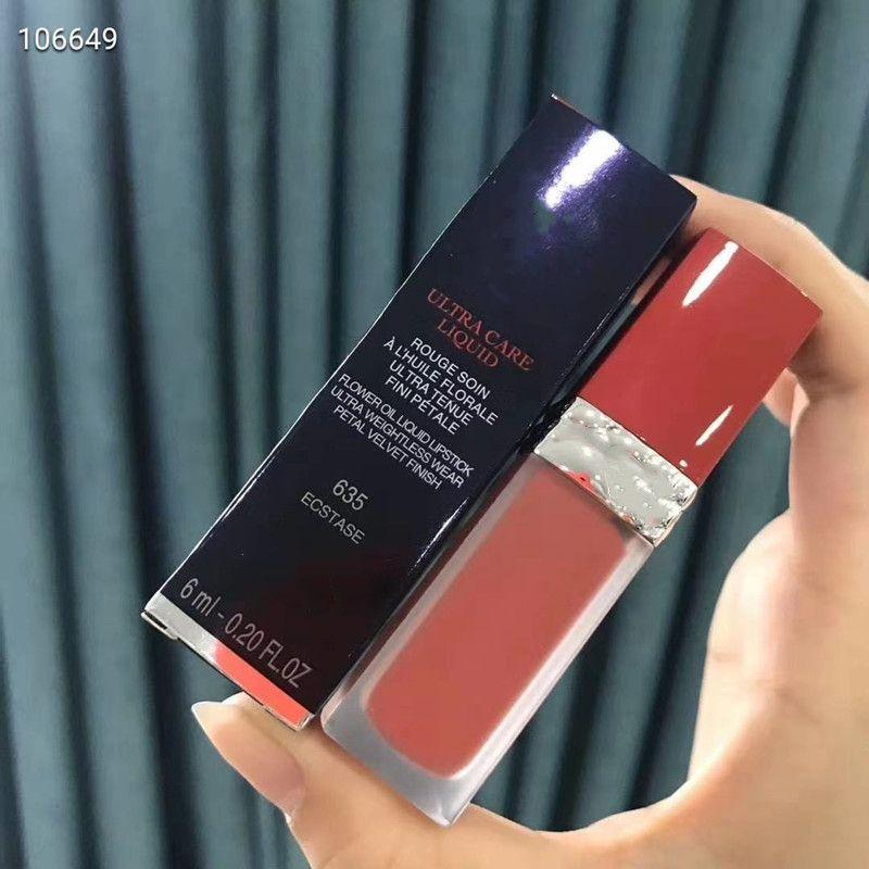6ML الرعاية الترا ماتي السائل الشفاه لامع أحمر الشفاه روج ليفر للماء ماكياج قاعدة شفاه في 5 ألوان