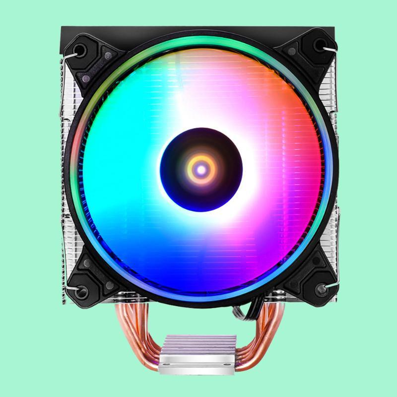 Cooling Fan A400 CPU Cooler 4Heatpipes 120mm Single-Tower RGB Air For LGA 1151 1150 1155 1156 AM4 AM3+ AM2 FM2 Laptop Pads