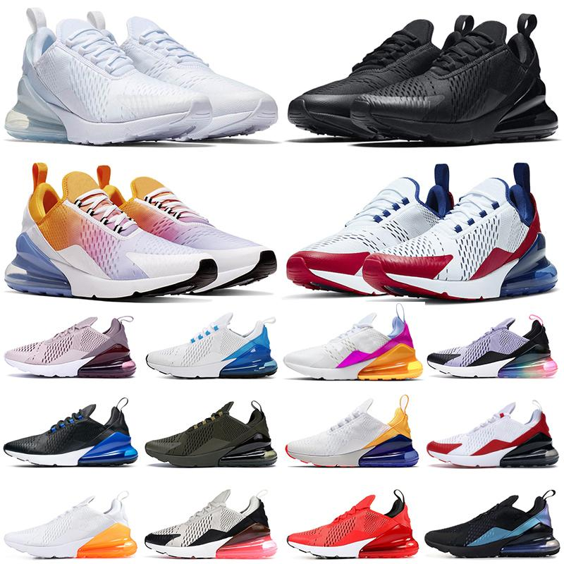 max 270 chaussures de course triple noir blanc rouge femmes hommes Chaussures Bred Be True BARELY ROSE 270s hommes formateurs Outdoor Sport Sneakers