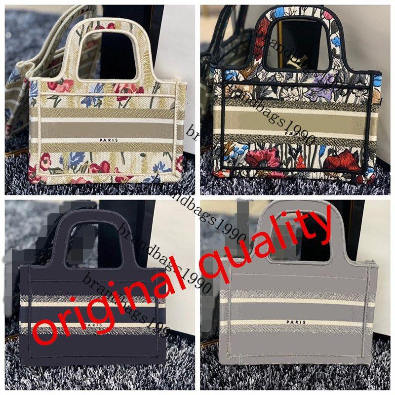 Mini Größe Handmade Stickerei Muster Einkaufstasche Damen Kapazität Handtaschen Paris Top Qualität Handtasche Mode Retro Ethnische Art Canvas 2021