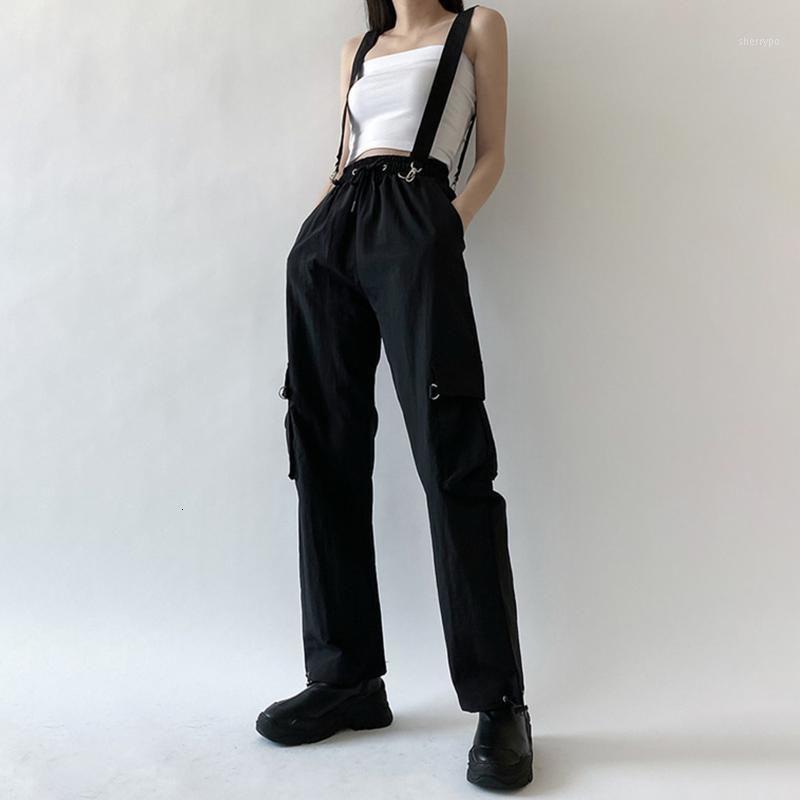 XUXI 2020 Donne Autumn Autunno Autunno Bretelle rimovibili Pantaloni Carico Pantaloni Due Abbigliamento Donne Abbigliamento Leghetti Pantaloni Casual Pantaloni Casual FZ25081
