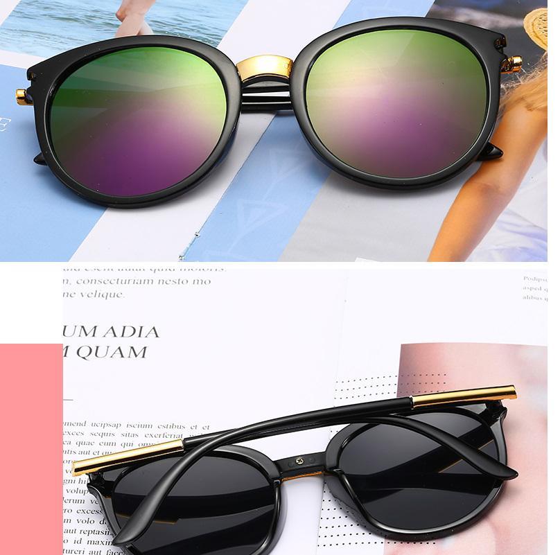 Clásico Ronda Vintage Gafas de sol Mujeres Diseño de Moda Espejo Gafas Sol Sombras Mujeres Retro Gafas Oculos UV400