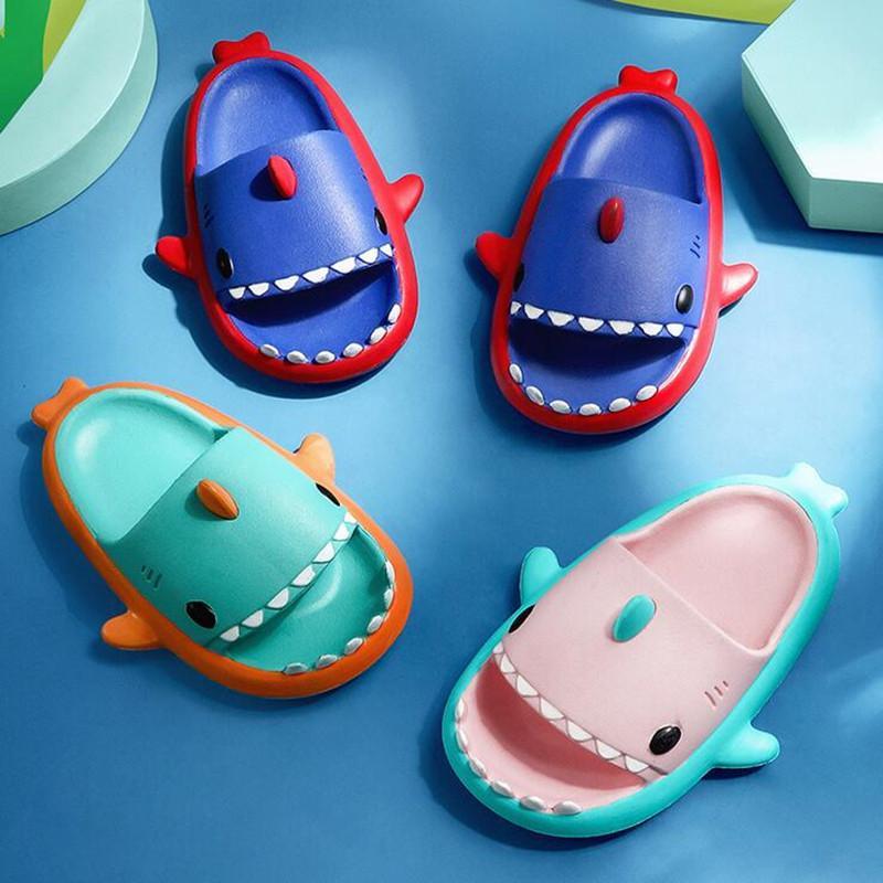 Животные Designs Детские тапочки Детские туфли Акула Девушки для мальчиков Mini Beach Slides Sandal Plan Bool Pool Water Eva Home и Детский малыш