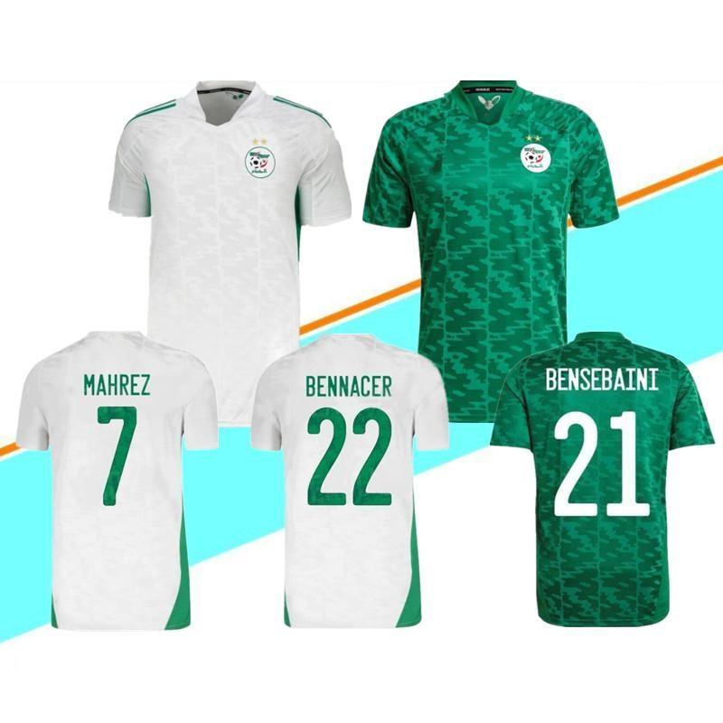 21-22 Argélia Casa 7 Mahrez 21 Bensbaini 22 Bennacer 20 Atal Futebol Jerseys Home Away Personalizado Tailandês Qualidade Jersey Camisas Tops Personalizado Soccer desgaste camisas Yakuda
