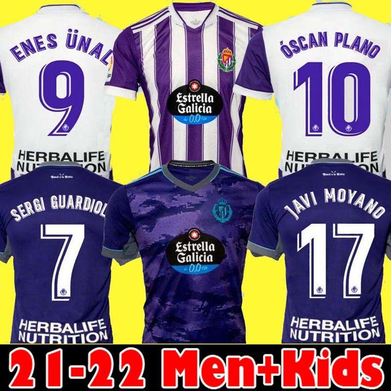21 22 Real Valladolid Soccer Jerseys Fede S. Sergi Guardiola Óscar Plano Camisetas de Fútbol 2021 2022 M.Salisu Men Kit Kit Kit de Fútbol Camisetas