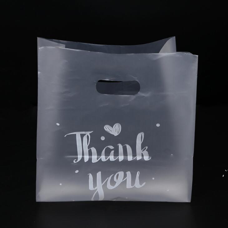 Remerciez-vous CADEAU EN PLASTIL CADEAU ENTRAÎNEMENT DOINS STOCKAGE AVEC HANDANTE PARTIE MARIAGE Sacs d'emballage de gâteau DWB6130