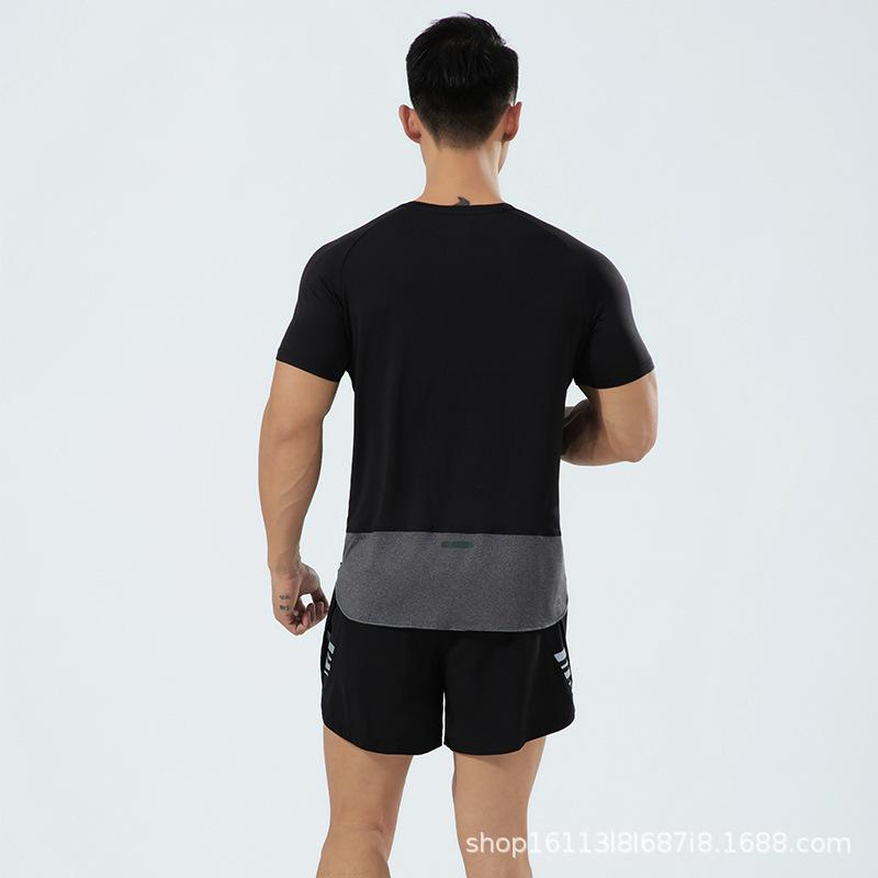 Running Men's Quick Secking Sports Sports Summer Fitness T-Shirt OEM
