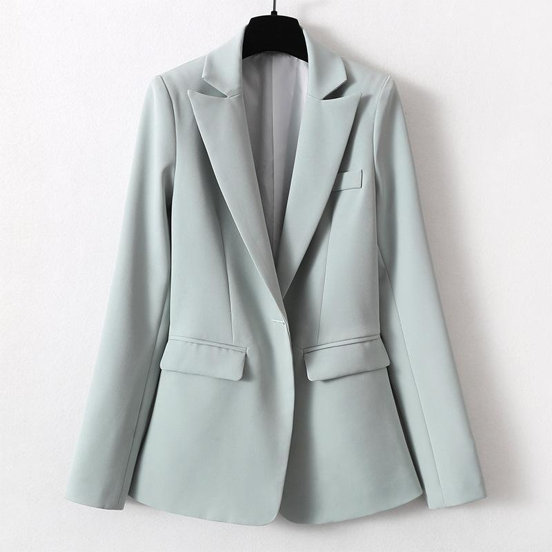 Women's Single Suit Autumn And Winter Casual Solid Color Fashion Wild Long-sleeved Jacket Clothing Suits & Blazers