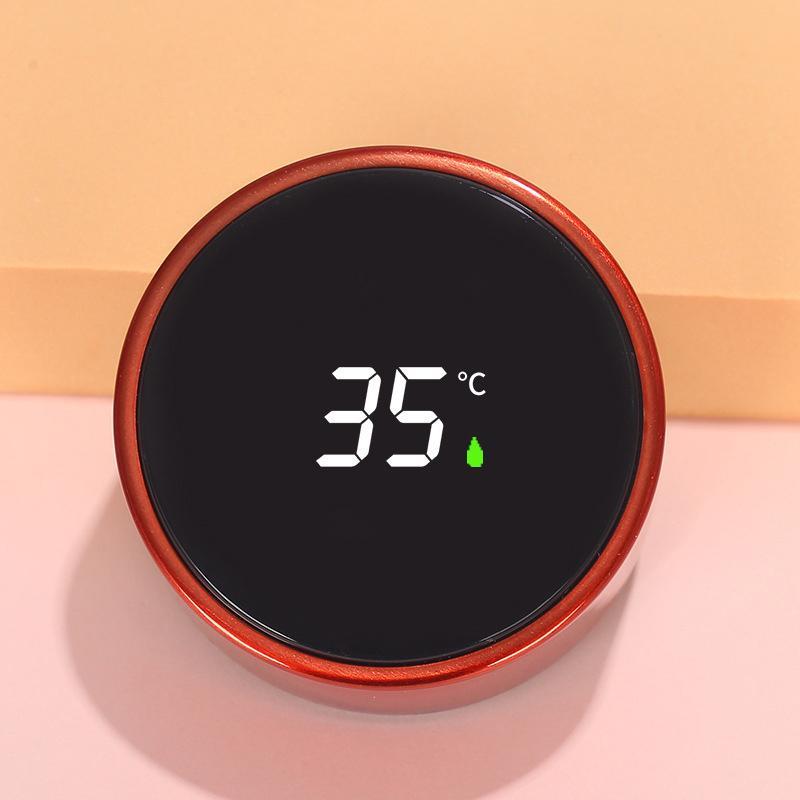 الإبداعية زجاجة المياه الذكية ذكي اللون تغيير درجة الحرارة قياس القهوة القدح 304 الفولاذ المقاوم للصدأ فراغ قارورة هدية DDA5881