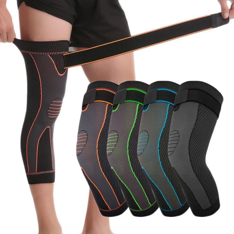 Локоть коленные колодки Aolikes Баскетбольная компрессионная рукава длительная поддержка Protector с повязкой ноги теплые спортивные скобки Велоспорт Фитнес