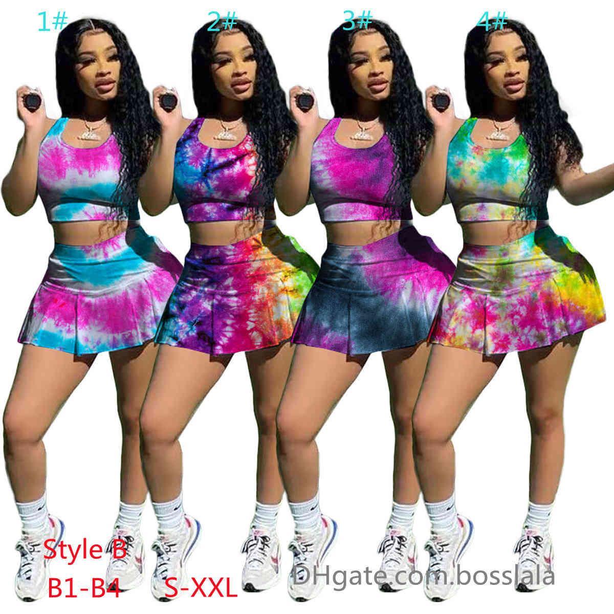 Kadın Eşofman Yaz Slim Fit Spor Yelek Etek Iki Parçalı Set Kolsuz T-shirt Yoga Şort Katı Renk Jogger Setleri Kıyafetler Spor Giyim XS-XXL