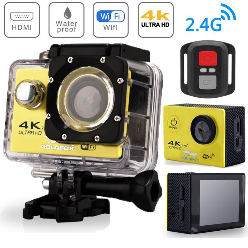 "Sports & Action Video Cameras H9R Camera Ultra HD 4K WiFi 2.0"" 12MP 170D Underwater Go Waterproof Pro Sport Mini Helmet Recording"