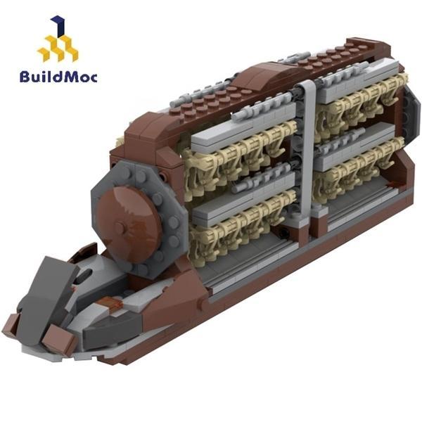 BuildMoc Star Movie Plotoon Attacco Attacco Artigianato Building Building Blocks Space Wars Battle Droid Transport Battleship Badship Bambini Giocattoli per bambini Regalo 1008