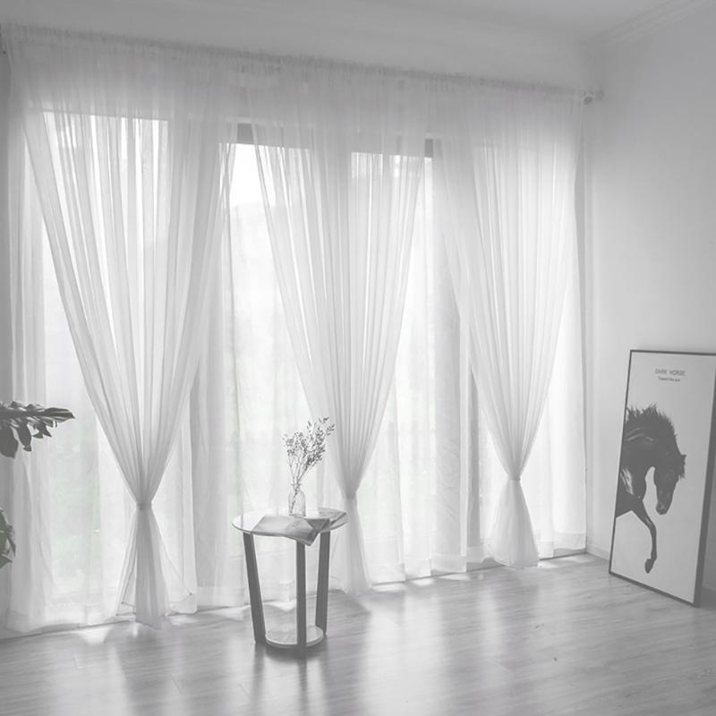 Rideaux de portes de fenêtre Drape Panneau Sheer Tulle pour salon Rideau Tulle Tulle Tulle Traitement de la fenêtre Panneau Sweer DSF0059