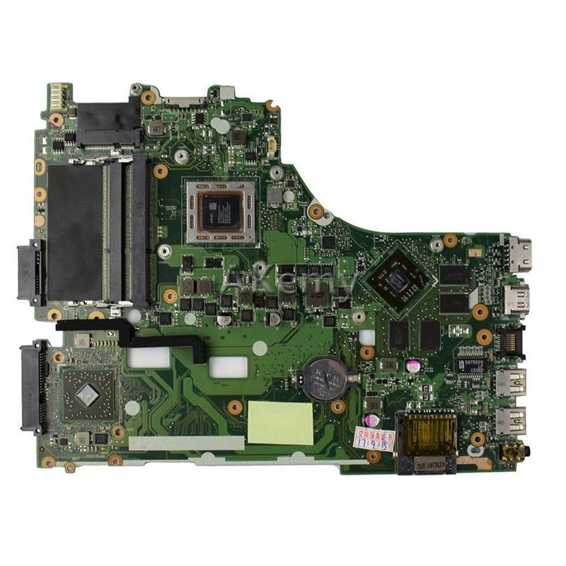 Motherboards Akemy For Asus X550ZE K555Z A555Z X555Z X750/X550 Laptop Motherboard A8-7200 CPU Mainboard With Graphic Card Test Good