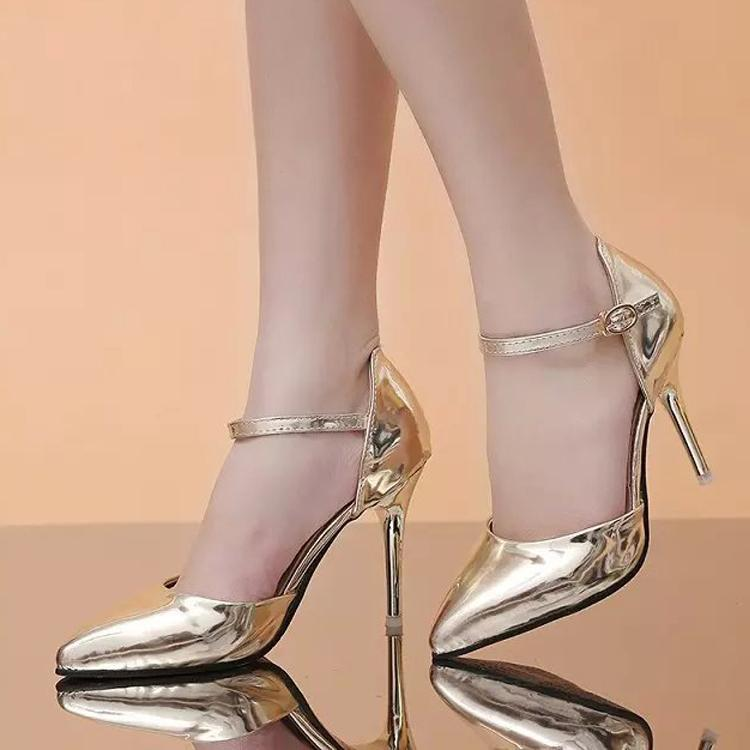 Robe chaussures mode femme zapatos mujer tacion alto argent argent sapato féminin sapatos de salto talons femmes pompe sapatos