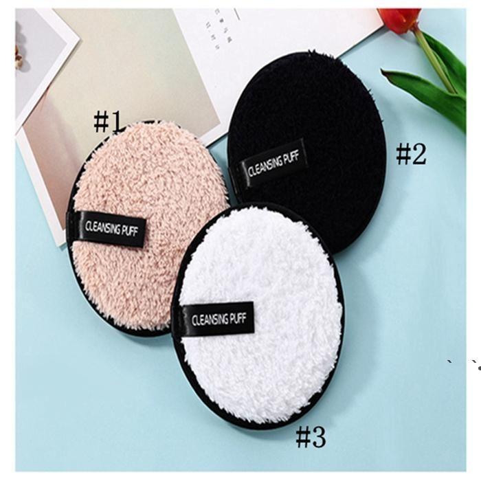 12 cm * 1,5 cm Home Weiche Mikrofaser Make-up Remover Tuch Gesichtsreiniger Plüsch Puff Wiederverwendbare Reinigung Tuch Pads Foundation Haut Werkzeuge OWA4752