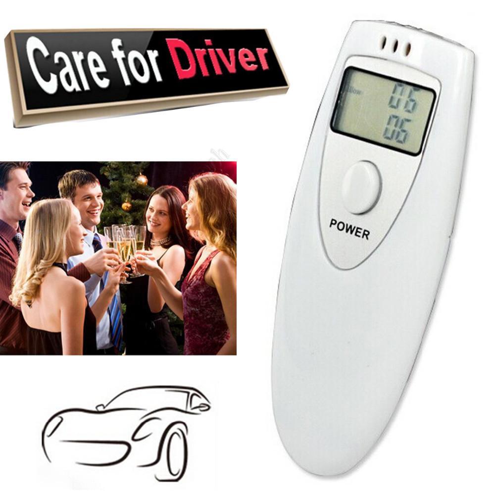 Mini probador de alcohol digital Handheld Police Alcohol Breath Breats Tester Breathalyzer Analyzer Detector LCD Pantalla PFT-641