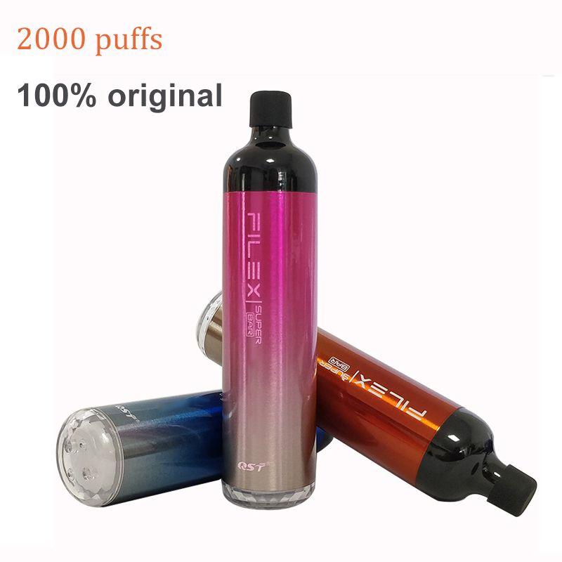 일회용 vape 2000 퍼프 filex 슈퍼 바 전자 담배 17350 배터리 6.5ml 사전 채워진 키트 Vapor_World