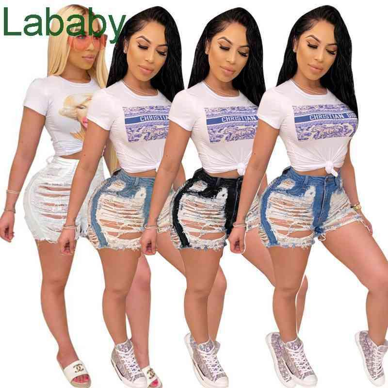 Women Short Jeans Fringed Shorts Trousers Pants With Holes Denim ladies Plus Size Casual Elastic Sexy Packet Club
