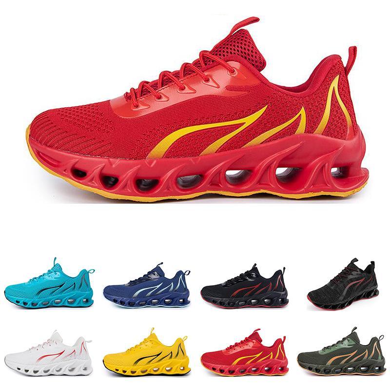 Zapatos de correr no marca Hombres Moda Entrenadores Negro Negro Negro Rojo Azul Blue Bred Mens Sports Sports Sports # 64