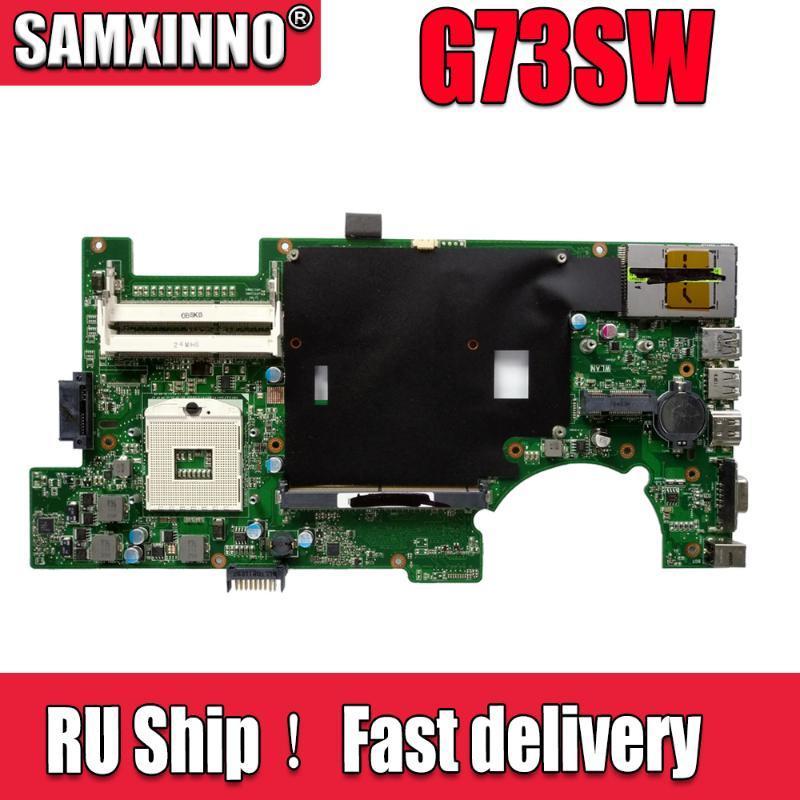 Motherboards G73SW Laptop Motherboard DDR3 2D For Asus G73S Test Mainboard 100% Ok