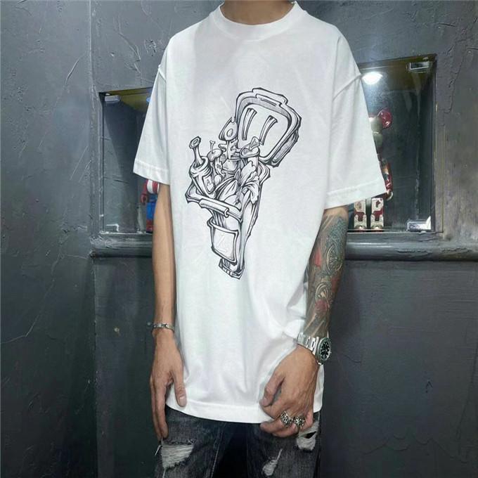 21 Men's Fashion Designer T-shirt rotonda T-shirt in cotone traspirante in cotone Europeo e americano TSHIRT Tshirt S-2XL Amanti Lettera manica corta