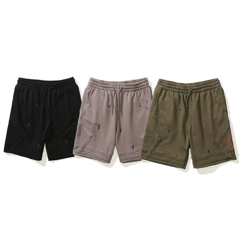 Hip Hop Rap Fashion da uomo Pantaloncini da uomo Travis Scott Cactus Ricamo Pallacanestro Sport Fitness Casual Casual Short