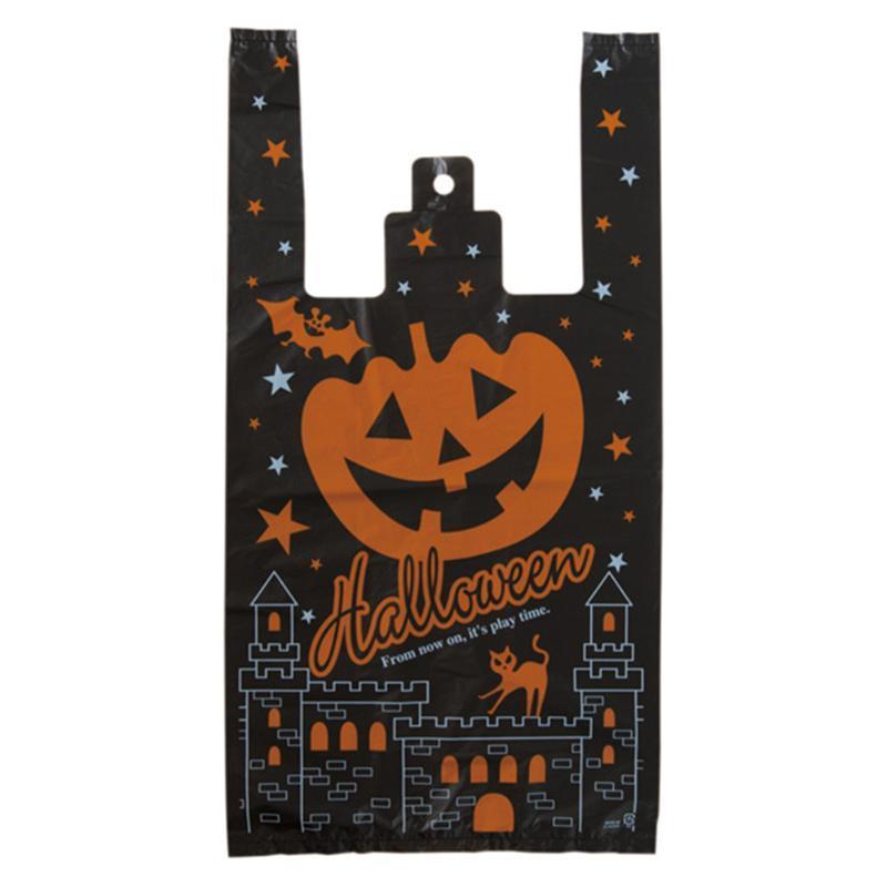 Presente Wrap 100 pcs bonitos abóbora abóbora festival feriado grande capacidade de Halloween Deleite Sacos Festa Plástico Home Cookie Portable com Punhos