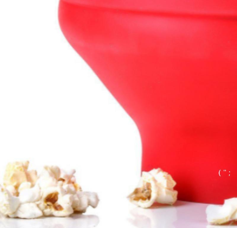 2020 New Popcorn Microondas Silicone Dobrável Vermelho De Alta Qualidade Cozinha Fácil Fácil Ferramentas DIY Popcorn Bucket Buck Fabricante com Tampa OWA5313