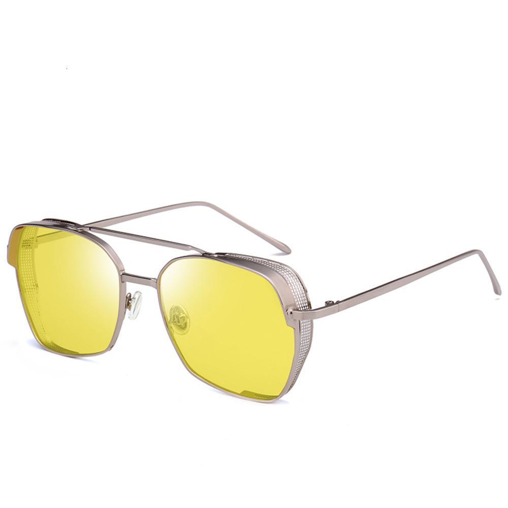Óculos de sol coreanos homens e mulheres na moda pára de sol punk 685