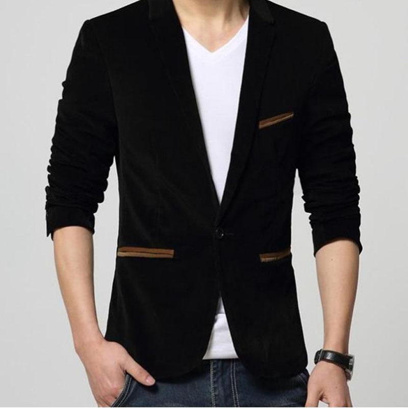 Men's Suits & Blazers Casual Suit Thick Warm Jacket 2021 Autumn Winter Slim Coats Corduroy Clothes For Party Wedding