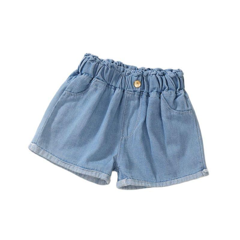 Girls Cotton Denim Jeans Shorts Children Thin Soft Trousers Kids Casual Clothes Clothing P165