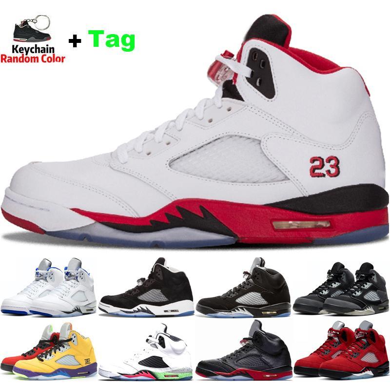 Zapatos de baloncesto para hombres 5 Stealth Anthracite Fire Red 5S Cemento blanco OG Metálico negro para hombre Deportes Deportes Sneakers des Chaussure