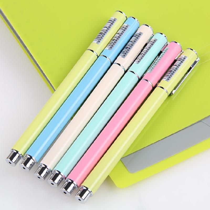 Fontaine Stylo Candy Color Color Stylo Métal Encre fonctionnelle Changeable Top de qualité Penne Stilografiche Haute Qualité Caneta Tinteiro Plumas