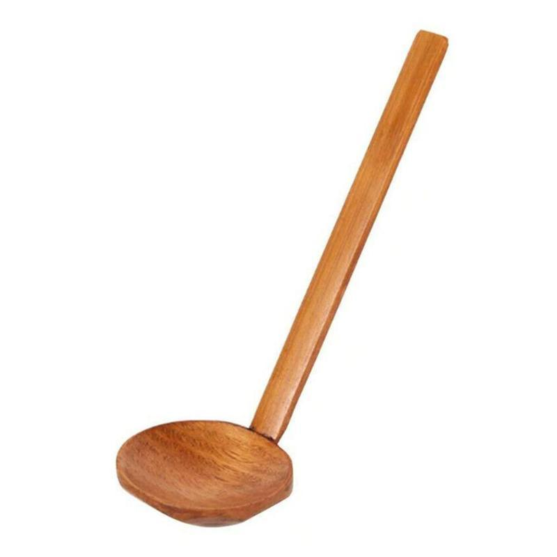 Spoons Japanese Style Long Handle Large Soup Spoon Kitchen Tableware Tools Tortoiseshell Ramen Utensil Cooki W8D1