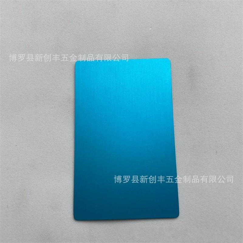 100 Pcs/Pack 5 Colors Black Silver Yellow Blue Aluminum Alloy Card Laser Engraved Metal Business Visiting Name Cards Blanks 691 S2