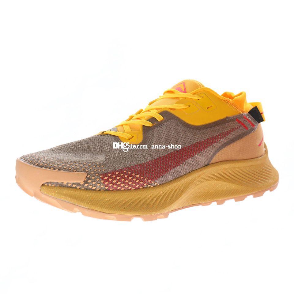 PEGASUS Sentiero 2 Sneaker per gli uomini Scarpe da corsa Mens Sport Scarpe da uomo Scarpe da ginnastica Trekking all'aperto Chaussures Sneakers atletici in giallo marrone rosso