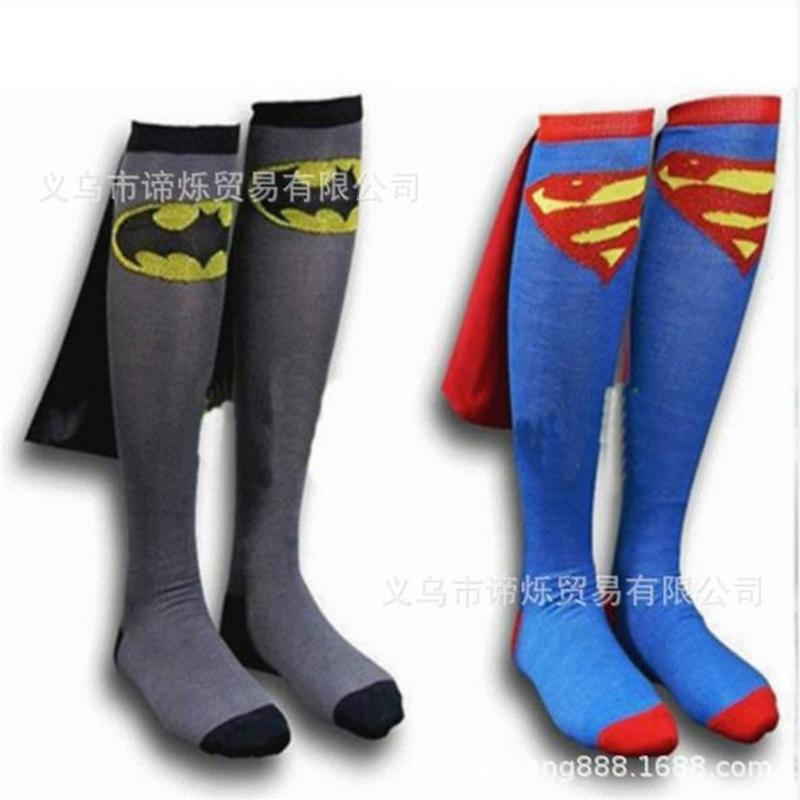 Superman Fußballsocken Cartoon Superman / Batman Cape Creative Socken