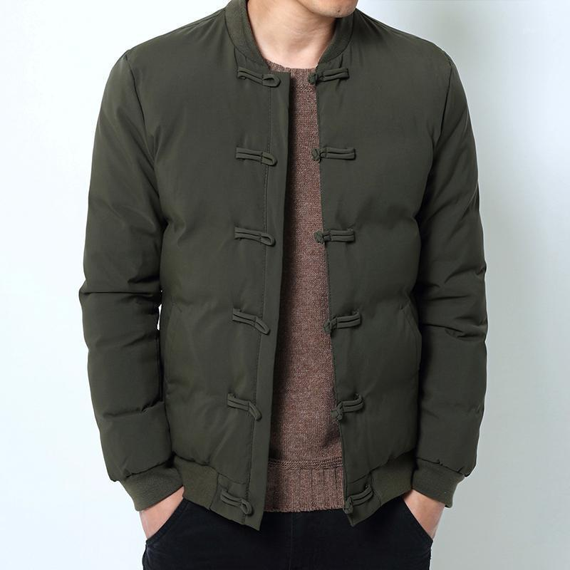 Drop Shipping New Men Jackette invernali Stile cinese Casual Slim Fit uomo Parkas Outwear11