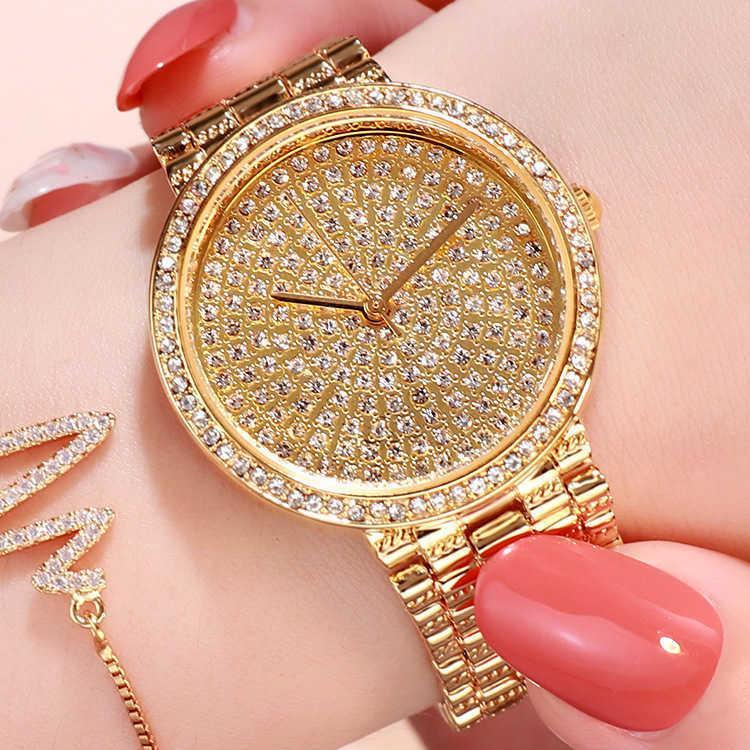 Luxus Frauen Uhren Top Brand Armbanduhren Für Frauen Relogio Feminino Armband Verschluss Edelstahl Quarz Damen Uhren 210603