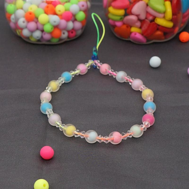 Beaded, Strands Phone Chain Beads Lanyard Colorful Beaded Strap Holder Bracelet For Women 2021 Summer Fashion Girl Jewelry