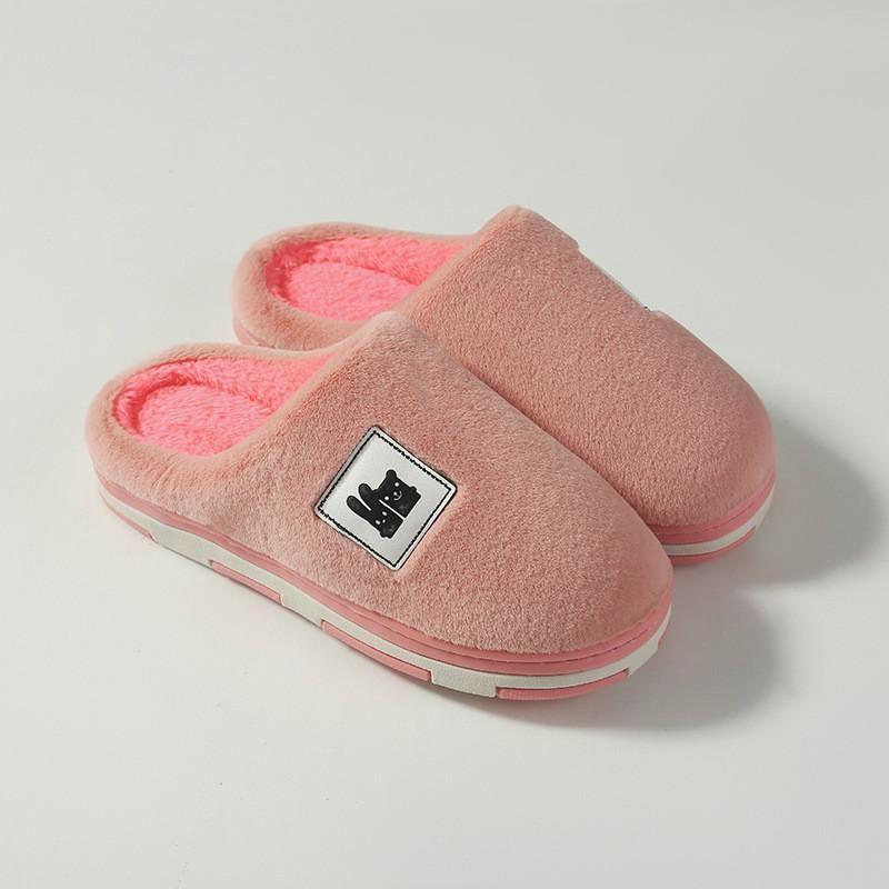 Mujeres de dibujos animados encantador zapatillas de algodón zapatos de algodón invierno antideslizante caliente espesado interior zapatillas de peluche casa