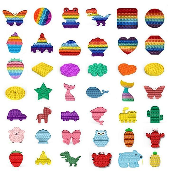 Fidget jouet sensoriel push bulle doigts doigts sensoriel de décompression jouet jouet autisme a besoin d'anxiété stress résonance enfants adultes dhl