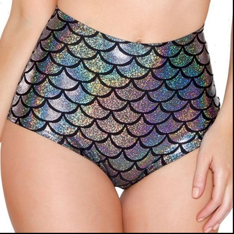 Perlage Mini Mujer Waist Candy Color Patent Leather Sexy Pole Dance Booty Shorts Clubwear Micro Fish Scale Womens Short High