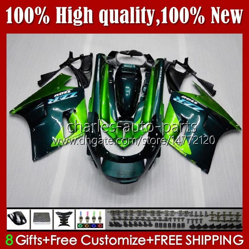 OEM-lichaam voor Kawasaki Ninja ZZR 1100 CC ZX11 R ZZR-1100 96 97 98 99 00 01 31HC.13 Nieuwe groene ZX-11R ZX11R ZX 11 R 11R ZX-11 R ZZR1100 1990 1991 1992 1993 1994 1995 Fairing Kit