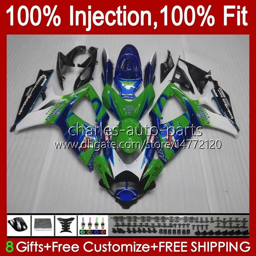 鈴木GSXR600 K8 GSX-R750 GSXR-600 GSXR-750 GSXR-600 GSXR-750 GSXR750 BODYWORK 9HC.50 BLUE GREEN新しいGSX-R600 2008 2009 2009 2010 GSXR 600 750 CC 600CC 750CC 08 09 10フェアリング