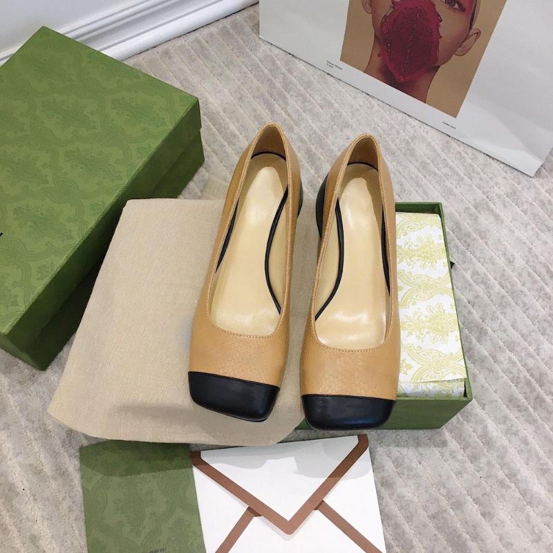 Dress Shoes Vendi Pompe da donna Classic Square Toe Genuine Pelle Casual Brands di lusso Singolo con grandi dimensioni 41