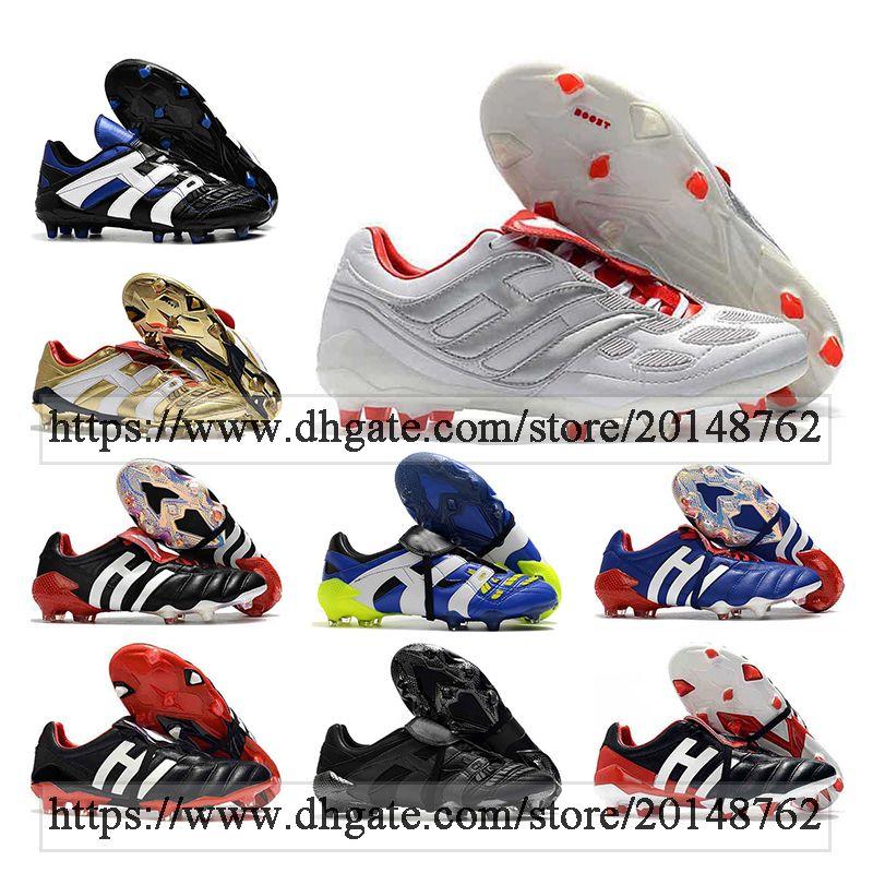 Bolsa de regalo para hombre Tops altos Botas de fútbol Predator Mutator 20 Mania FG Clases Beckham Precision Accelerator IC TF Turf Zapatos de fútbol